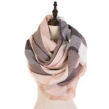 eUty Unisex Womens Square Soft Stripe Scarf  Warm Shawl Wrap Neck Scarves Gifts