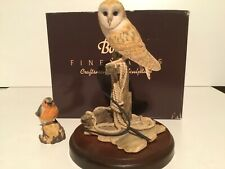 Border Fine Arts, Barn Owl with pitchfork, excellent condition.