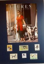 Great Dane (Harlequin) -  Collectible - DIY Collage.  With clothing ad.