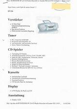 Schneider SP 226 CD-Radio-Recorder m. Kasettendeck