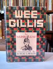 Munro Leaf, Robert Lawson, WEE GILLIS, Caldecott  Honor, 1st Edition, 1938 HC/DJ