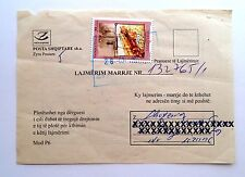 ALBANIA 2009 - Archeology. Cover circulated. Receipt notification mail document