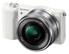 Sony A5100 (ILCE5100L/W) Mirrorless Digital Camera with 16-50mm Lens - White