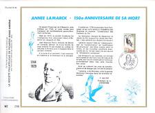 FEUILLET PHILATELIQUE ANNEE LAMARCK 150eme ANNIVERSAIRE DE SA MORT