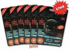 Super Panther 7K, Male Sex Enhancement, 6 Capsules Pills, New Black