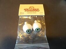 1 Pair Of New Packages Tallina's Acrylic Doll Eyes green -20MM New Old Stock