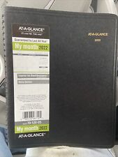 At A Glance 2022 7 X 875 Planner Black 70 120 05 22