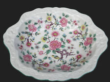 James Kent Old Foley Vegetable Bowl 12in Oval Chinese Rose Chintz Art Deco UK