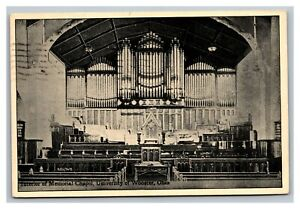Vintage 1909 Photo Postcard - Memorial Chapel University of Wooster Ohio