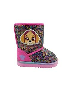 Paw Patrol Cold Weather Boots Size 7 8 9 or 10 Skye and Everest Glitter Sequins