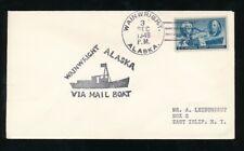 ARCTIC ALASKA WAINWRIGHT MAIL BOAT HANDSTAMP 1949