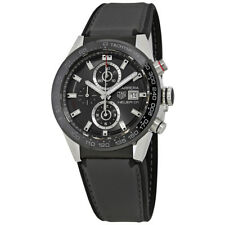 Tag Heuer Carrera Chronograph Automatic Black Dial Mens Watch CAR201W.FT6095