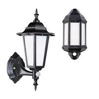 LED Outdoor Security 7 Watt Integrated Half Lantern / Full Lantern Black/White