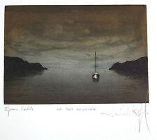 J J J RIGAL, très belle gravure signée, EPREUVE d'ARTISTE, LA BAIE DU SILENCE .