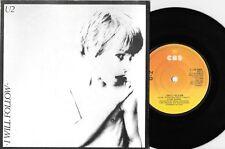 """U2 - I WILL FOLLOW / BOY/GIRL - RARE 7"""" 45 IRISH VINYL RECORD w PICT SLV - 1980"""