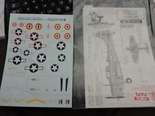 T DECALS 1/72th SCALE DECAL FOR DOUGLAS DAUNTLESS  #72-042