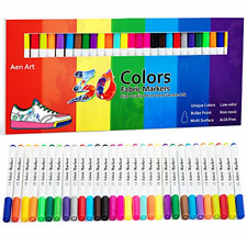 Fabric Markers Pen 30 Colors Permanent Paint Art Marker Set for Writing Painting