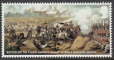 BATTLE OF WATERLOO FRENCH CAVALRY  ILLUSTRATED ON  2015  GB  MINT STAMP