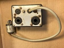 Vintage Tube Tester Socket Adapter 11-pin plug to B10G 10 socket, Novar, 12-pin