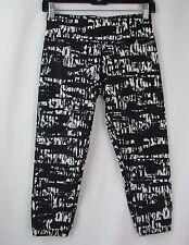 Calvin Klein Black & White Print Quick Dry Yoga Running Capri Pants Size S LK464