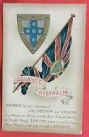 1900's postcard Titled Advance Australia victorian flag