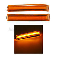 Pair Mirror LED Side Lights Turn Signal Lamps Reflector Amber For Ford F150 US