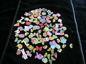 Mixed Lot Of Over 10 Decorative Buttons (Giraffe Elephant Owl Butterfly +)