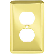 W10249-PB Brass Stamped Single Duplex Cover Plate 5 Pack