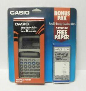 NEW CASIO HR-8B Portable Printer Calculator + 5 Paper Rolls