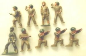 fl818mg - (9) VINTAGE BARCLAY - MANOIL TOY LEAD SOLDIERS