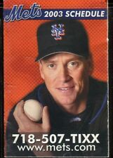 Schedule Baseball New York Mets - 2003 - Newsday Tom Glavine