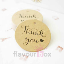 24x THANK YOU Kraft Swing Brown Gift Tags Wedding Favour Baby Shower Bomboniere