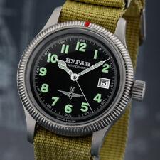 BURAN Fliegeruhr 2824 Automatik 2824/6503711 russische Uhr mechanisch mod. B-Uhr