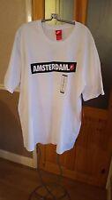 Mens Nike 'Amsteram City' T-Shirt - White w/ Logo - BNWT - XXL