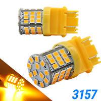 Syneticusa 3157 LED Ambre jaunissent Parking Signal DRL haute puissance Ampoules