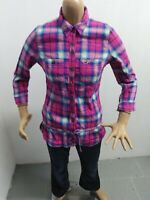 Camicia HOLLISTER Donna taglia size M shirt woman chemise maglia polo p 5377