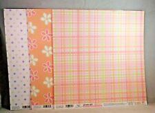 EK Success Baby Faces Scrapbook Paper 12x12 Stripes Gingham Flowers Dots 22 Shts