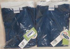 2 Landau Scrub Tops V-Neck Caribbean Blue Small SML 8219 CBP LAB2057 New in Bags