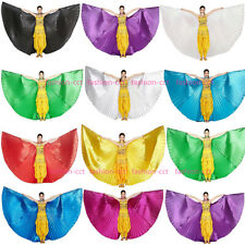 Belly Dance Isis Wings with Sticks Angel Wings for Halloween Carnival 10 Colors