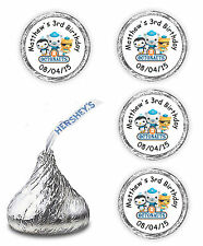 108 OCTONAUTS BIRTHDAY PARTY CANDY KISSES LABELS FAVORS WRAPPERS STICKERS DECALS