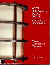 Catalogue Vente Camard Art Deco Ruhlmann Sue Mare Brandt Dupre Lafon Schneider