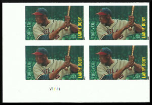 Scott 4695a - The 2012 Larry Doby Issue, Imperforate Plate Block - Mint, NH