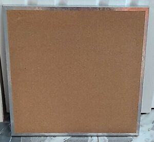 "Pottery Barn Teen Cork Board Bulletin Metal Frame NEW  20"" Square heavy duty"