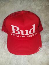 Vintage Bud King of Beers Snapback Trucker Cap/Hat