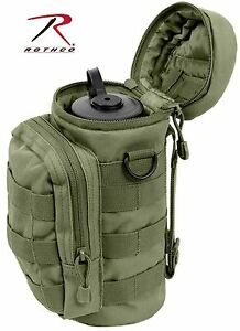 Olive Drab MOLLE Compatible Water Bottle Pouch - Rothco Green Water Pouches 2379