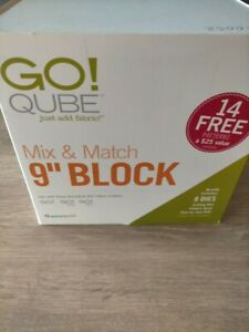 "Accuquilt Go Qube 9"" mix and match Block fabric quilting set NEW RRP£220"