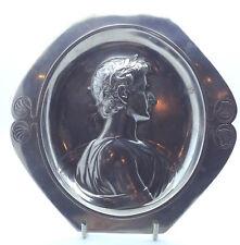 WMF Antique Wall plaque tray, Portrait of Ceasar. Art Nouveau, Jugedstil.