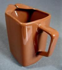 Vintage/retro brown ceramic water/milk jug Diana Pottery U73 kitchenalia