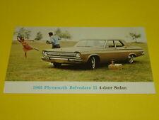 1965 PLYMOUTH BELVEDERE II 4-DOOR SEDAN POSTCARD, DEALER ADVERTISEMENT