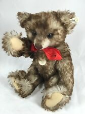 "Steiff ""Happy""  Bear 1926  Grey -Brown  Tipped (sm. version) 1991/92 EAN 407215"